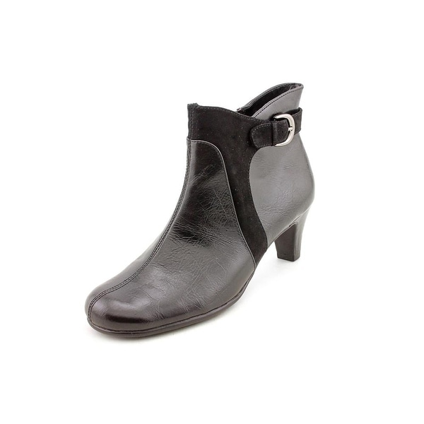 Aerosoles Playroom Women Round Toe Synthetic Black Ankle Boot