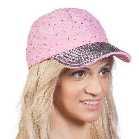 Womens Jeweled Baseball Caps