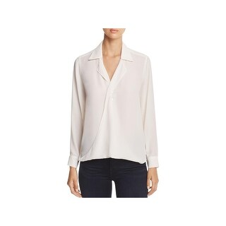 Foxcroft Womens Claudette Blouse Long Sleeves Draped - 12