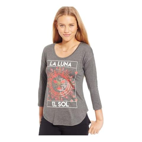 Belle Du Jour Womens Sun Moon Foil Graphic T-Shirt
