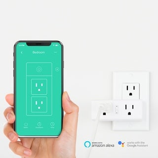 SmartiFi Duo WiFi Smart Plug Outlet, w/ Google Home, Amazon Echo, IFTTT & Energy Monitoring