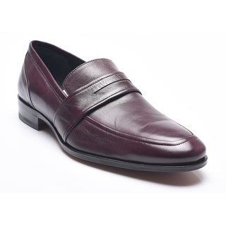 Bruno Magli Men's Leather Marton Penny Loafers Shoes Bordeaux