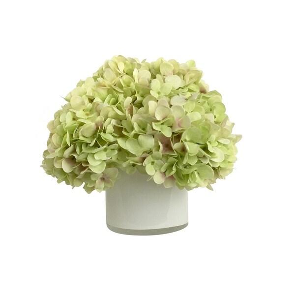 Shop 1025 Powder Green Hydrangeas Artificial Silk Floral