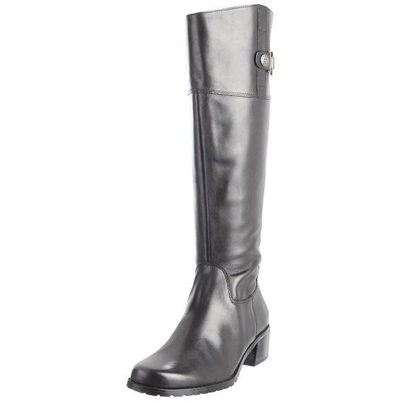 Anne Klein Womens Evon Leather Round Toe Knee High Fashion Boots