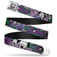 Joker Face Full Color Joker Face Logo Spades Black White Purple Webbing Seatbelt Belt