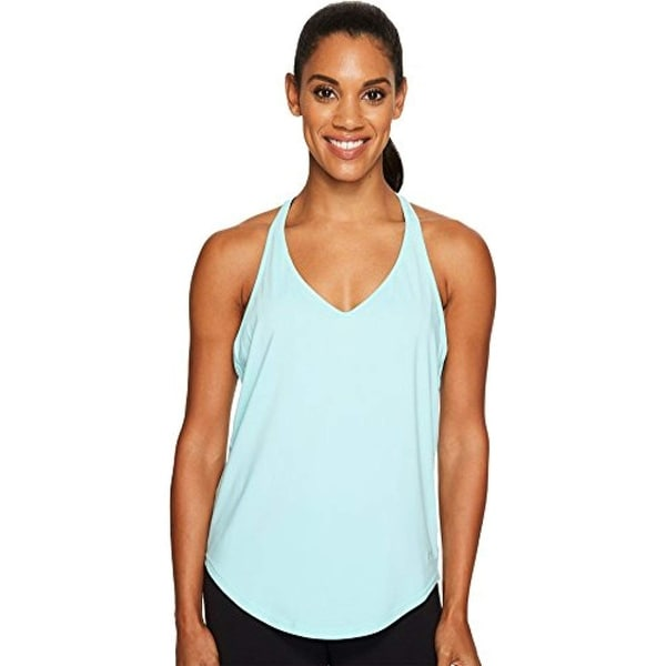 91f17e4b65a53 Under Armour Women  x27 s Studio Lux Flashy Racer Back Tank Top Blue Size.  Click to Zoom