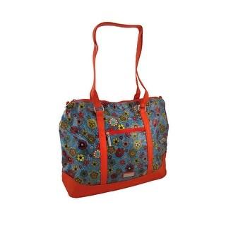 Hadaki Hannah's Tote Floral Swirl Print Oversized Bag - Red