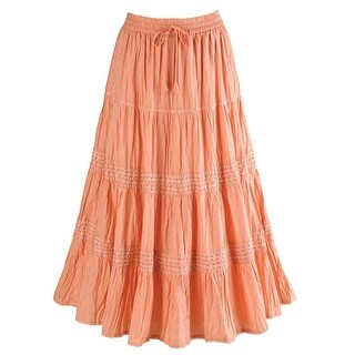 "Women's Bohemian Romance Maxi Long Skirt - 32"" Length"