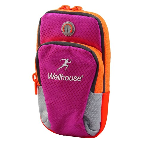 Wellhouse Authorized Phone Holder Adjustable Running Sports Arm Bag Fuchsia M