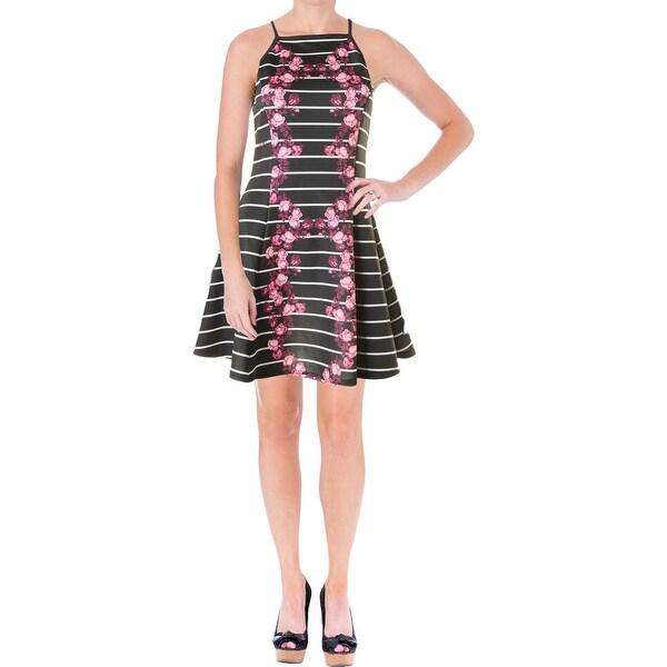 Minkpink Womens Mirror Casual Dress Floral Print Striped