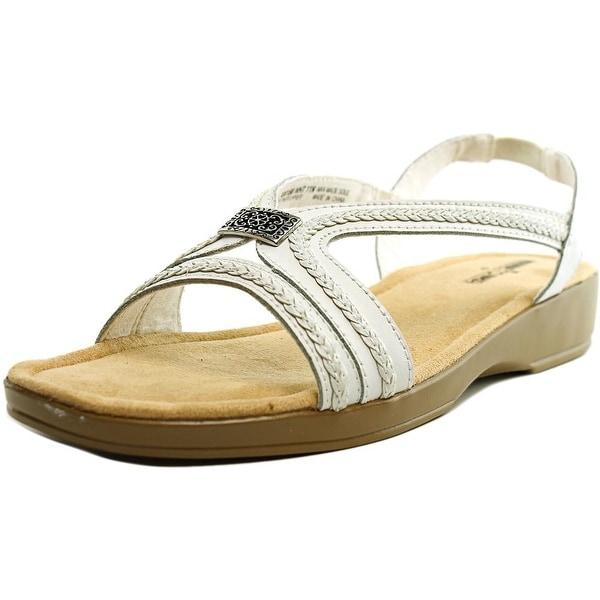 Minnetonka Galina N/S Open-Toe Leather Slingback Sandal