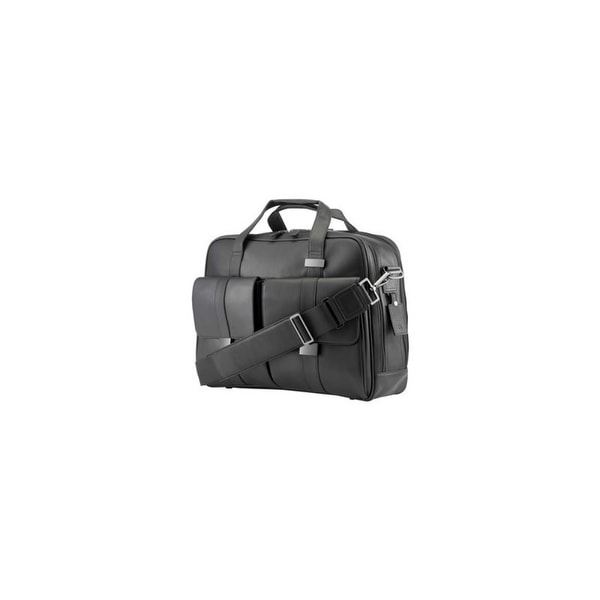 HP Exec Black Leather 15.6 Top Load Notebook carrying case