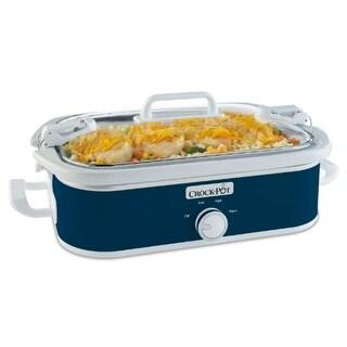 Crock-Pot SCCPCCM350-BL Casserole Crock Slow Cooker, 3.5 Qt, Midnight Blue