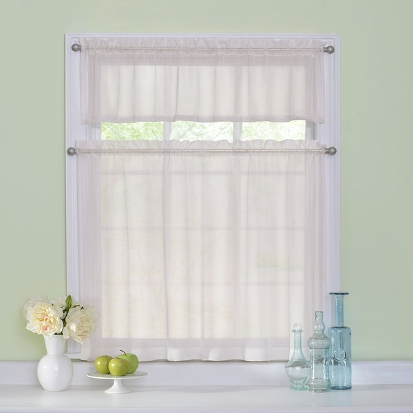 Arm and Hammer Curtain Fresh Odor-neutralizing Tier Set - 56x36. Opens flyout.