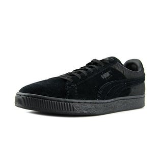 Puma Suede Classic Casual Emboss Men Round Toe Suede Black Sneakers