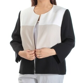 KASPER $119 Womens New 1236 Black Ivory Suit Wear To Work Jacket 18 B+B
