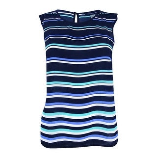 Tommy Hilfiger Women's Striped Sleeveless Shell Top - Navy (3 options available)