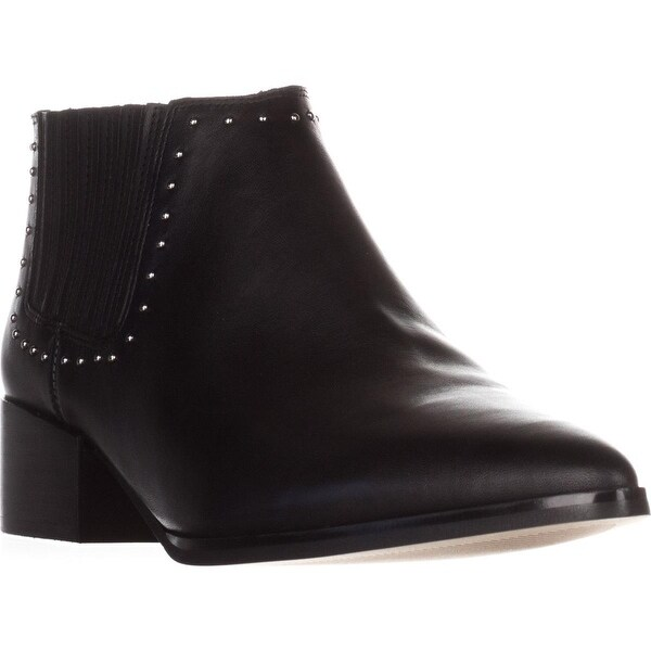 Marc Fisher Idalee Pointed-Toe Ankle Boots, Black Leather