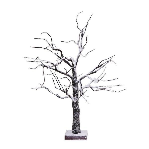 """24"""" Battery Operated LED Lighted Poseable Brown Leafless Twig Christmas Tree - Warm White Lights"""