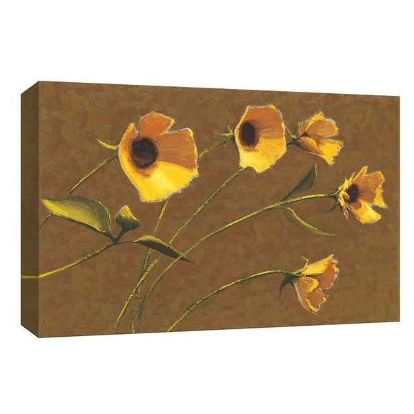 """PTM Images 9-153584 PTM Canvas Collection 8"""" x 10"""" - """"Sunny Flowers III"""" Giclee Flowers Art Print on Canvas"""
