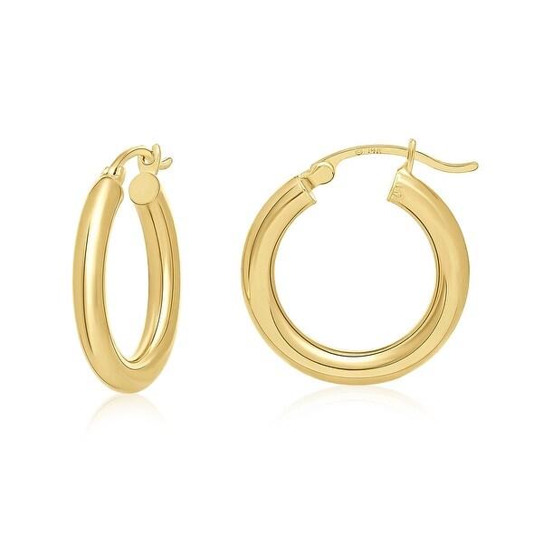 "Mcs Jewelry Inc 14 KARAT YELLOW GOLD HOOP EARRINGS (0.8"" DIAMETER)"