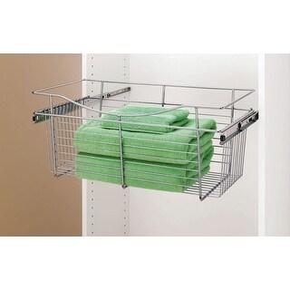 "Rev-A-Shelf CB-241411  CB Series 24 x 14 x 11"" Wire Pull-Out Closet Basket"