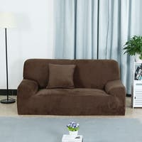 L-Shaped Stretch Sofa Covers Chair Covers Couch for 1 2 3 Seater Coffee Color