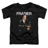 Trevco Cheers-Frasier - Short Sleeve Toddler Tee - Black, Large 4T