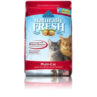 Blue Buffalo 800502 Naturally Fresh Cat Litter w/ Quick-Clumping, 26 Lbs