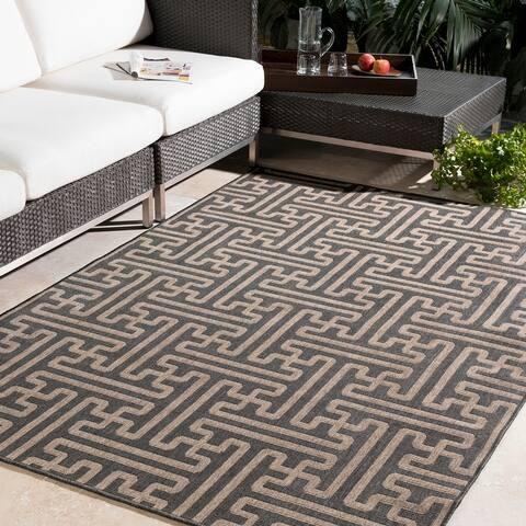 Nikki Contemporary Geometric Indoor/ Outdoor Area Rug