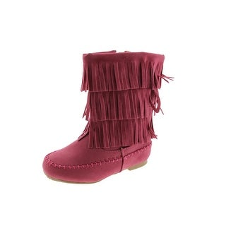 Shoes of Soul Toddler Girls Faux Suede Boots