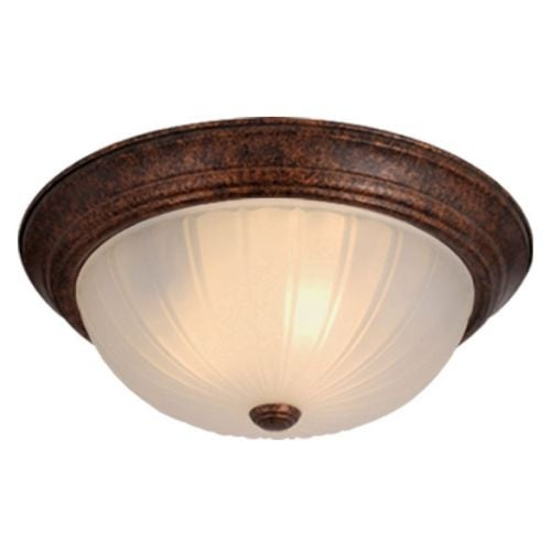 Vaxcel Lighting CC1755 3 Light Flush Mount Indoor Ceiling Fixture with Frosted Glass Shade - 15.38 Inches Wide