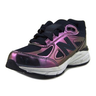 New Balance KJ990 Youth Round Toe Leather Purple Sneakers