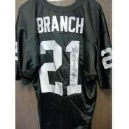 Signed Branch Cliff Oakland Raiders Oakland Raiders Custom Jersey PSA Authenticated NO Card autogra