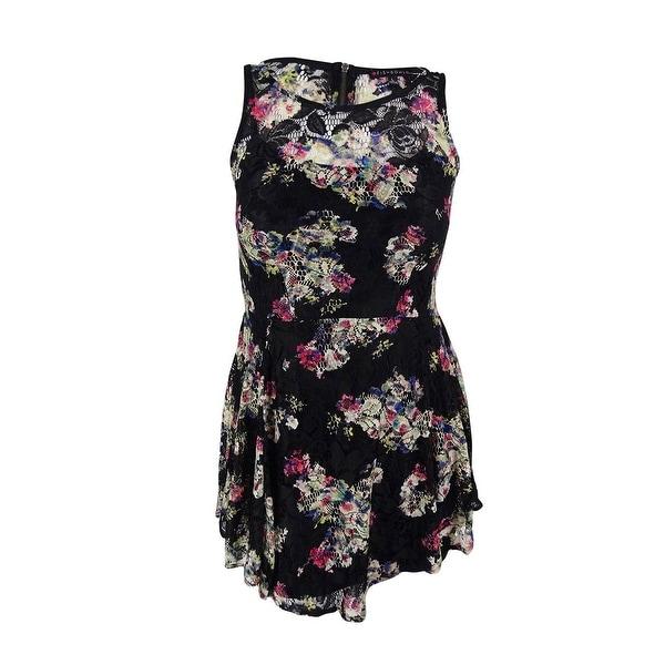 Fishbowl Juniors' Lace Dress - Black/Purple - l