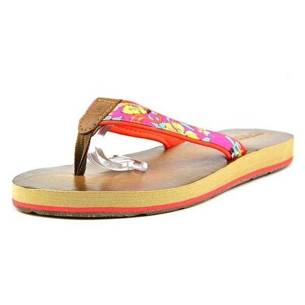 Sperry Top Sider High Sail Women Open Toe Canvas Flip Flop Sandal