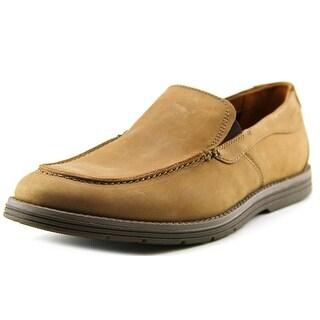 Clarks Radwel Step Men Moc Toe Leather Tan Loafer