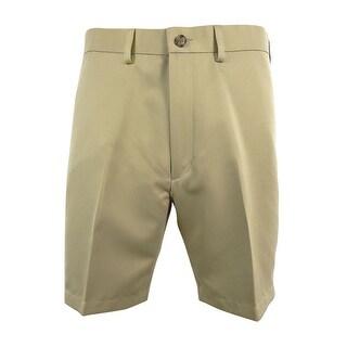 "Roundtree & Yorke Big&Tall Men's Expander Waistband Flat Front 9"" Shorts"