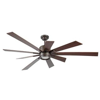 Craftmade KAT729 Katana Brown 72-inch 9-blade Ceiling Fan and LED Light Kit
