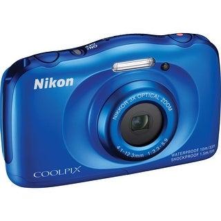 Nikon COOLPIX S33 Digital Camera (Blue) (Open Box)