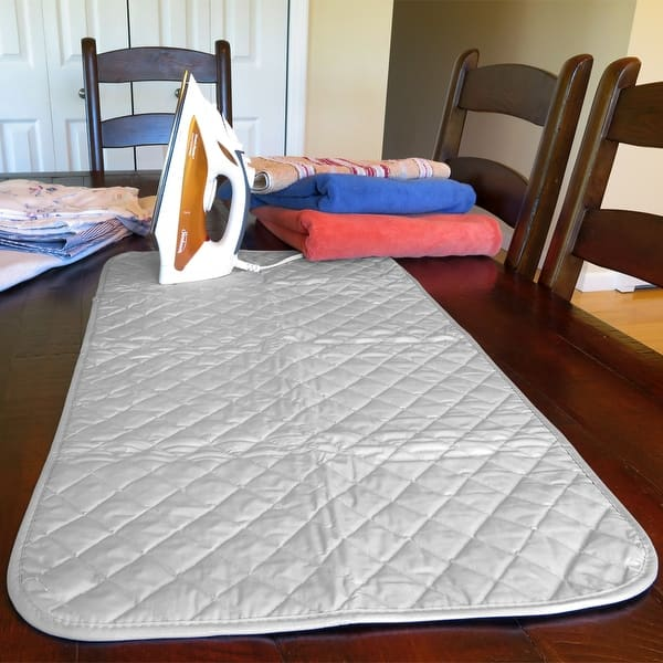 TINTON LIFE Foldable Ironing Mat Blanket Pad for Table Heat Resistant Double Sides 21.65 x 47.24