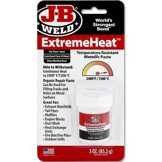J-B Weld 37901 ExtremeHeat Metallic Paste Adhesive, 3 Oz