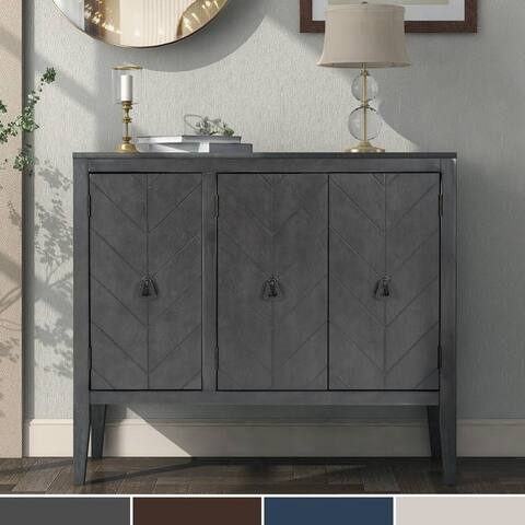 Modern Accent Storage Cabinet Wooden Cabinet with Adjustable Shelf