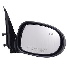Pilot Automotive TYC 5750041 Black Passenger/ Driver Side Power Heated Replacement Mirror for Nissan Sentra