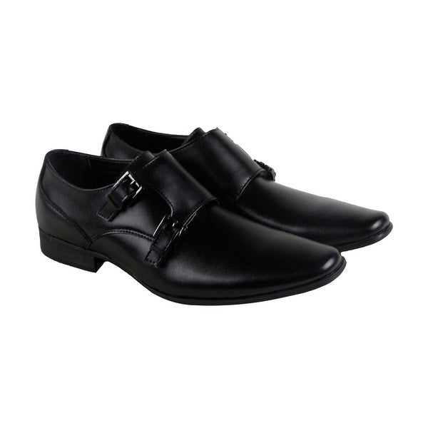 Calvin Klein Bayard Leather Mens Black Leather Casual Dress Loafers Shoes