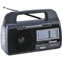 Supersonic SC1082 Supersonic 9 Band AM/FM/SW1-7 Portable Radio - 3 x D