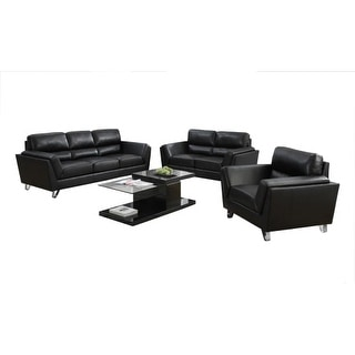 Monarch Specialties Bonded leather love seat I Bonded Leather Love Seat