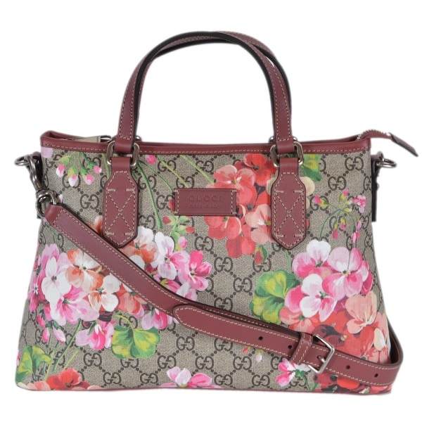 4929a0191dd4 Shop Gucci 429019 Supreme Canvas GG Floral Blooms Top Handle Handbag ...