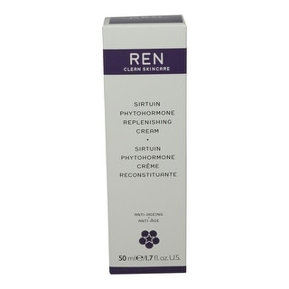 REN Skincare Sirtuin Phytohormone Replenishing Cream, 1.7 Fluid Ounce