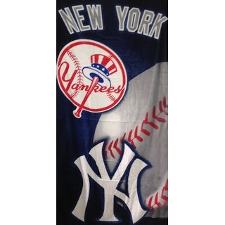 New York Ball Line Beach Towel
